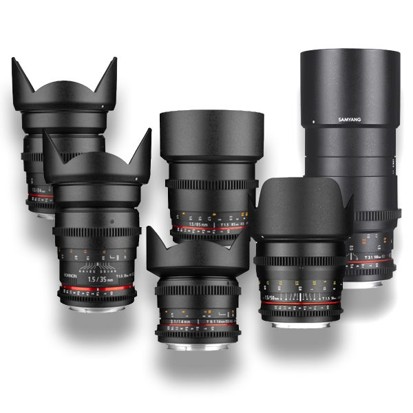 6 - Objetivas - Lenses - Rokinon - Samyang - for rent at DigitalAzul