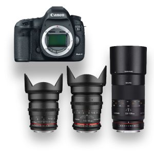 KIT – 5D Mark III com 3 Objetivas Cine-Prime - THUMB - Digital Azul