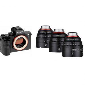 Kit Sony a7s + 3 Objetivas Xeen - AA