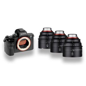 Kit Sony a7s II + 3 objetivas XEEN - THUMB - Digital Azul