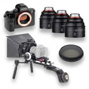 Kit Sony a7s II + 3 objetivas XEEN + Kit Ace Schatler + Filtro Tiffen 138mm Variable ND - THUMB - Digital Azul