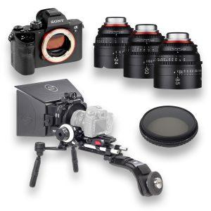 Kit Sony a7s II + 3 objetivas XEEN + Kit Ace Schatler + Filtro Tiffen 138mm Variable ND - THUMB - Digital Azul