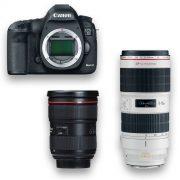 KIT DSLR - Canon 5D Mark III + Zoom f-2.8, 24-70mm ou 70-200mm- THUMB - Digital Azul