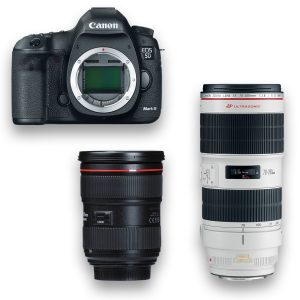 KIT DSLR - Canon 5D Mark III + Zoom f-2.8, 24-70mm ou 70-200mm- THUMB - Digital Azul