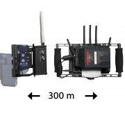 Transmissor Video HD Wireless 300 m + Director's Monitor - THUMB FFFF - Digital Azul