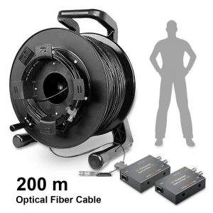 Kit Converter Optical Fiber 12G - THUMB AA - Digital Azul