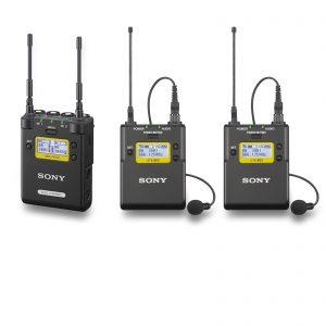 KIT 2 Microfones de Lapela Wireless Sony - para aluguer na Digital Azul