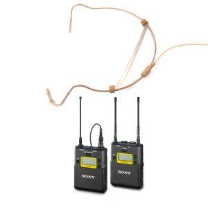 Kit Micro Headset + Emissor wireless Sony - for rent at Digital Azul