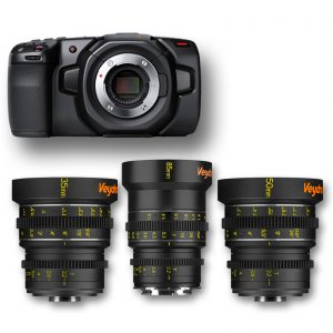 KIT Blackmagic Pocket + 3 Lenses Veydra Mini-Prime - for rent at Digital Azul
