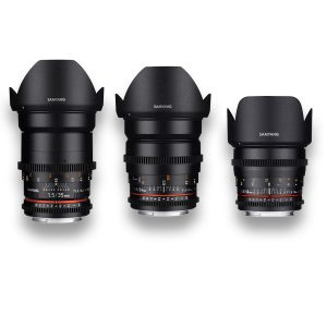 3 - Objetivas - Lenses - Rokinon - Samyang - MFT - for rent at DigitalAzul