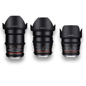 3 - Objetivas - Lenses - Rokinon - Samyang - MFT - for rent at DigitalAzul