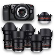 Blackmagic Pocket + 6 Objetivas - Lenses - Rokinon - Samyang - MFT - for rent at DigitalAzul