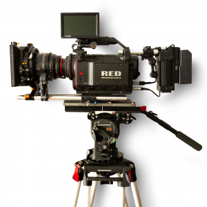 A - Kit Red MX One + O'Connor Fluid Head & tripod + 3 Lens Cine Prime Xeen + Follow Focus + Tangerine Matte Box - for rent at Digital Azul